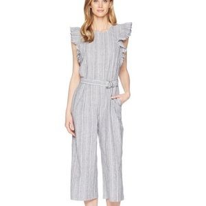 Striped jumpsuit size medium